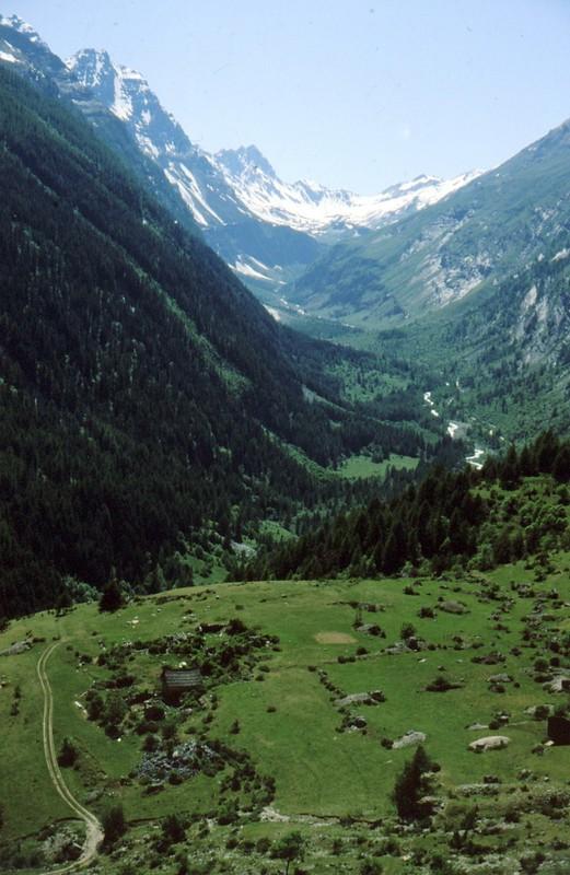 1985 Montgenèvre Vue sur la vallée de Fournel