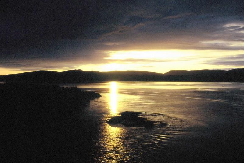 017- Soleil de minuit depuis pont du Maëlstrom 1 h matin