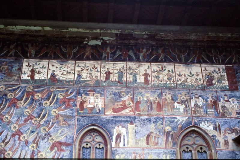 1993 28 Sucevita Détail des fresques du monastère