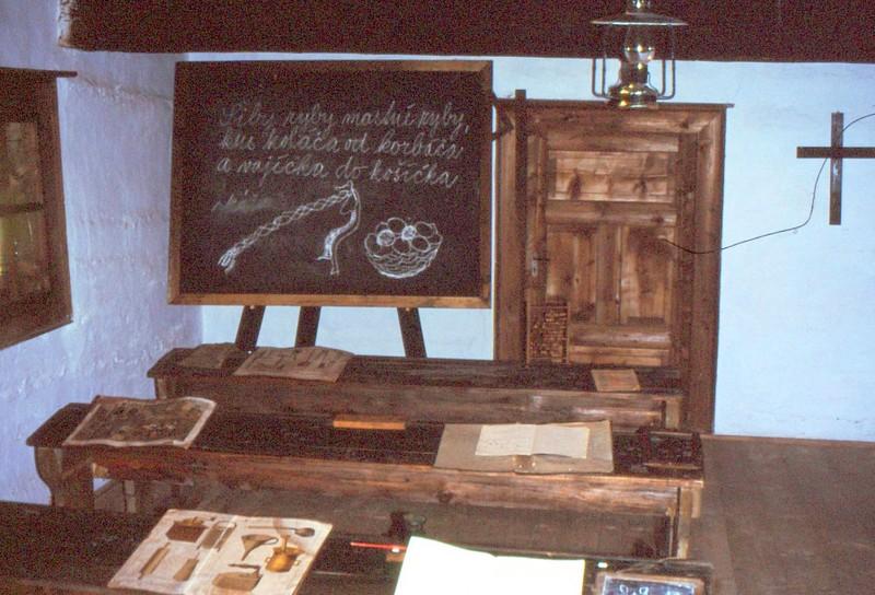 Musée ethnographique de Zuberec : classe de l'école