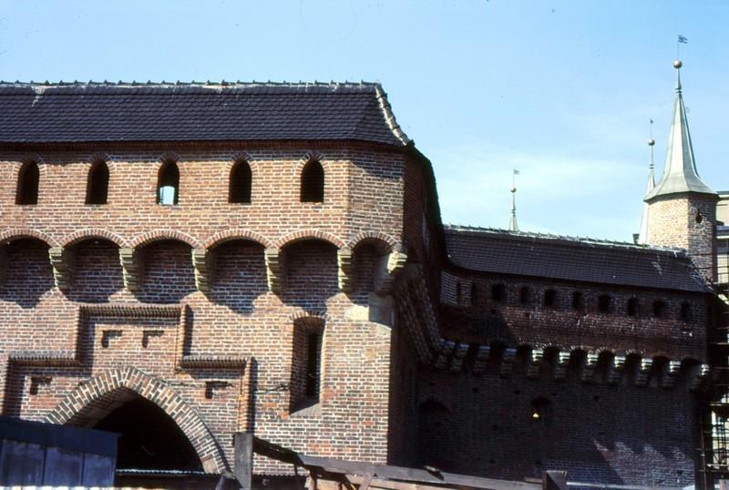 Cracovie : fragments de la barbacane