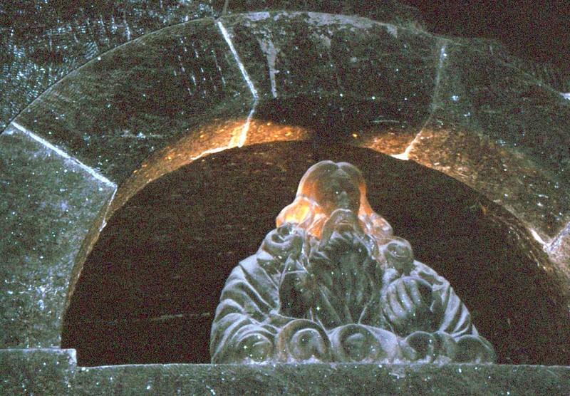 Wieliczka : une des sculptures de la chapelle