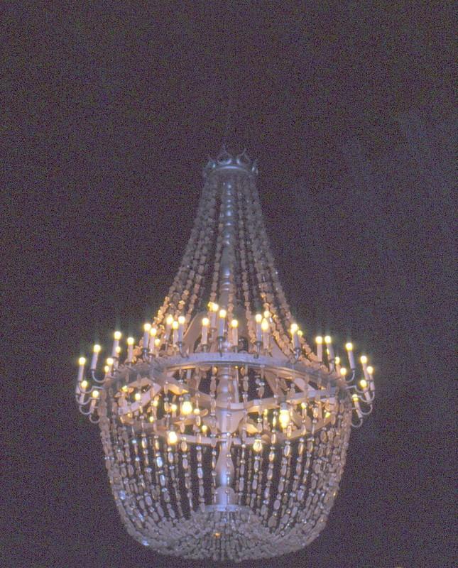 Wieliczka : lustre en cristaux de sel