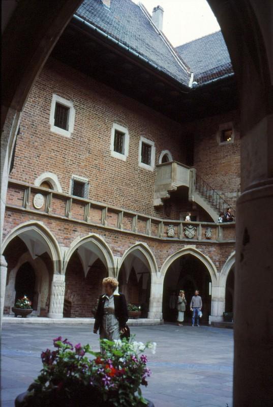 Cracovie : cour de l'Université Jagiellonski