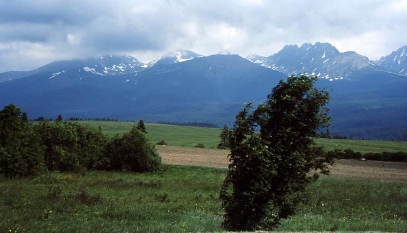 Vue sur les Tatry de Jasna à Poprad