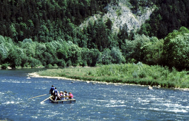 En radeau sur le Dunajec