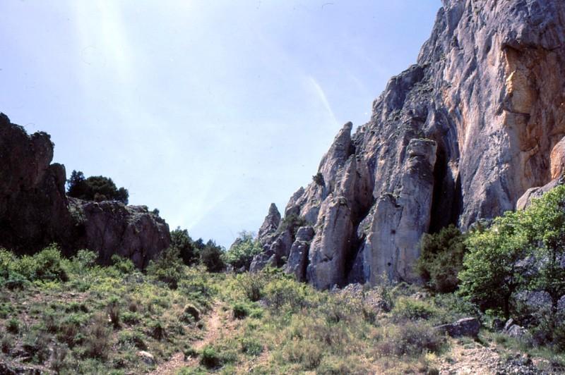 Entrée de la Gorge de Yecla