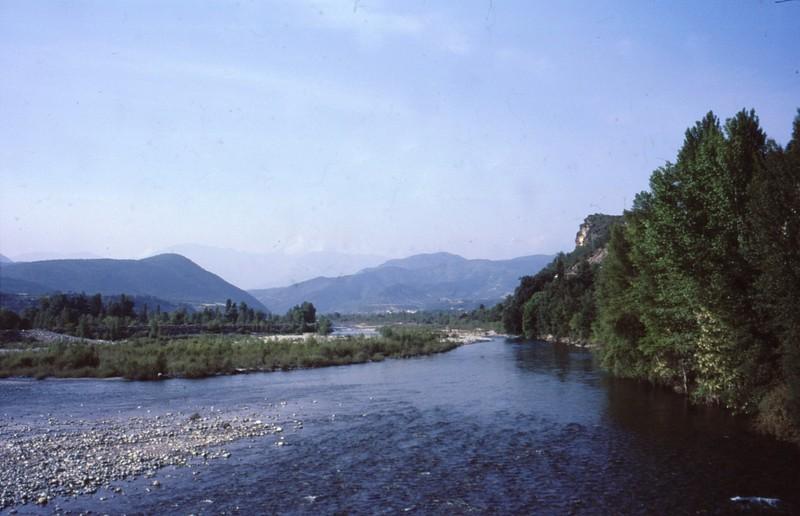 Le barrage vers Ainsa