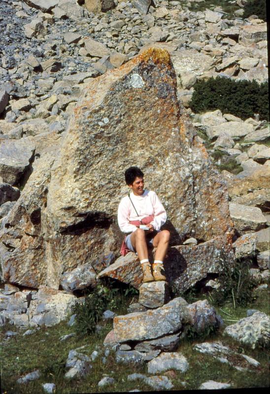 Michèle à la Tossa d'Alp