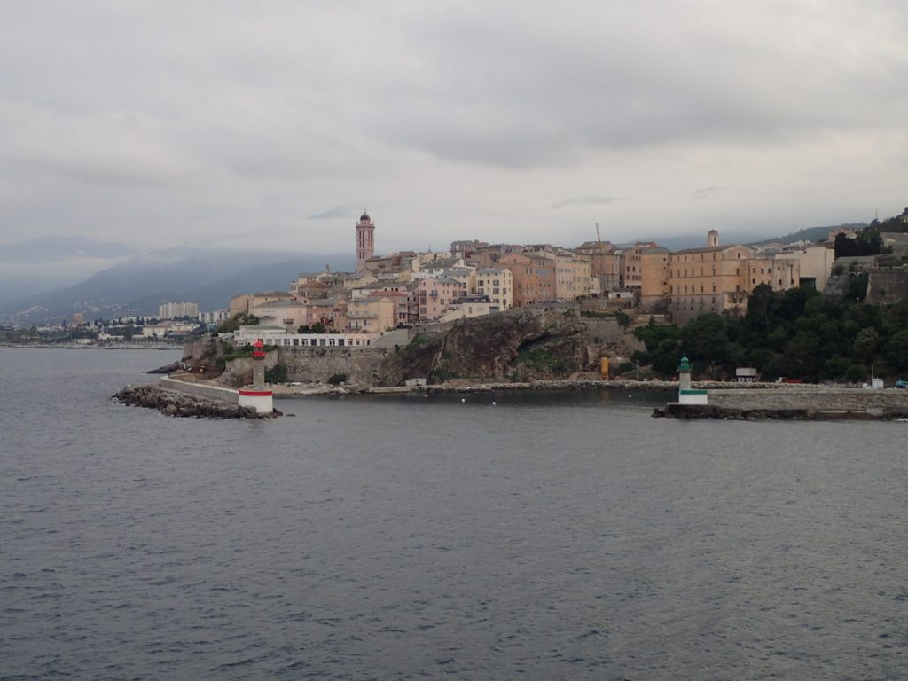 Port de Bastia vu du ferry