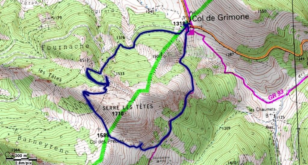 Randonnée à partir du Col de Grimone