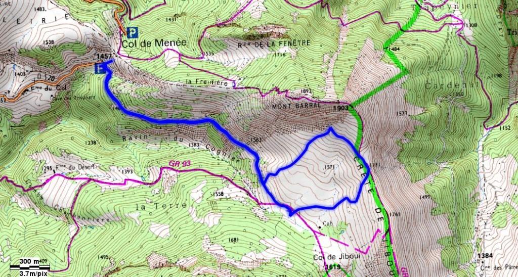 Randonnée à partir du Col de Menée